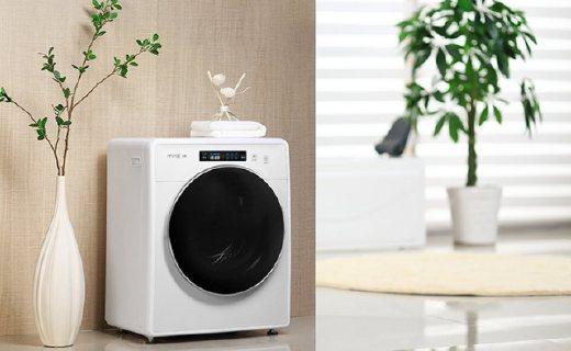 小吉全自动洗衣机:ABS环保材料机身,智能遥控洗涤程序