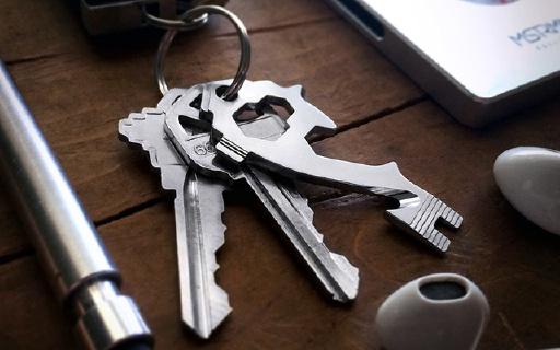 钥匙链大小多功能工具,竟然集合20种工具!