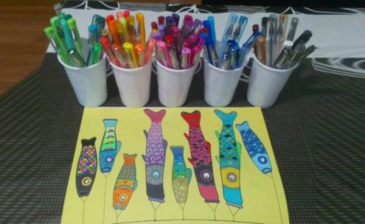 Lolliz彩色中性筆套裝:線條流暢著色強,100種顏色隨意DIY