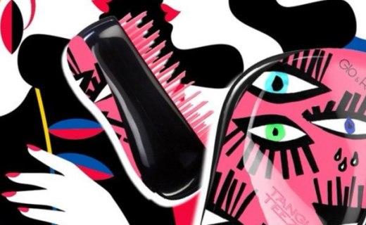 Tangle Teezer玩趣睛彩便携美发梳:流线型弧度外观,梳发顺畅不打结