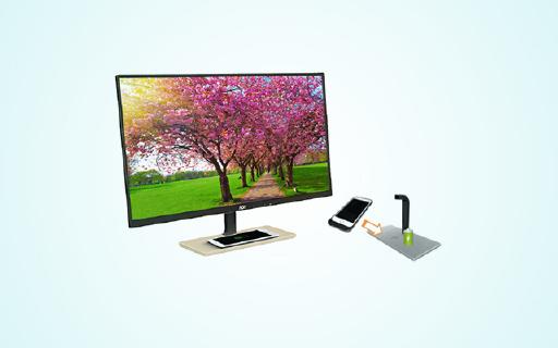 AOC新款顯示器,無色差屏幕還支持無線充電