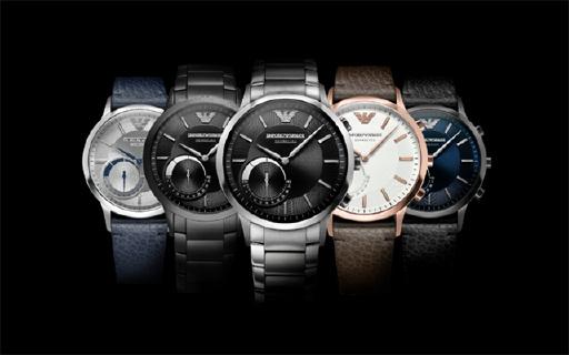 阿玛尼智能手表,自动同步时区,商务必备