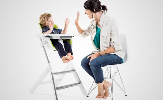 磁力設計的高餐椅,讓寶寶的飯碗不再打翻