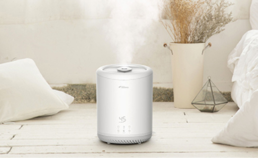 德爾瑪4L加濕器:360度旋轉噴霧,活性炭凈化空氣