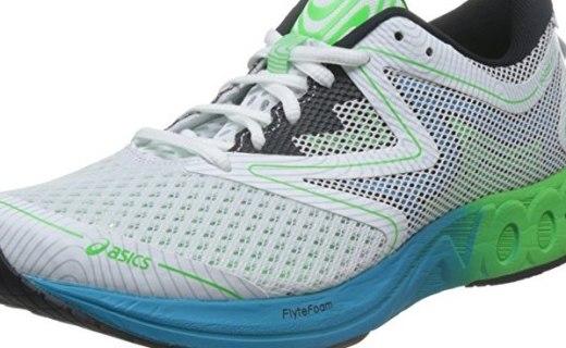 亚瑟士NOOSA FF跑鞋 :缓冲中底保护脚部,橡胶材?#39318;?#22320;力强