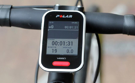 Polar V650 GPS騎行碼表:2.8存全彩觸摸屏,可下載地圖規劃路線