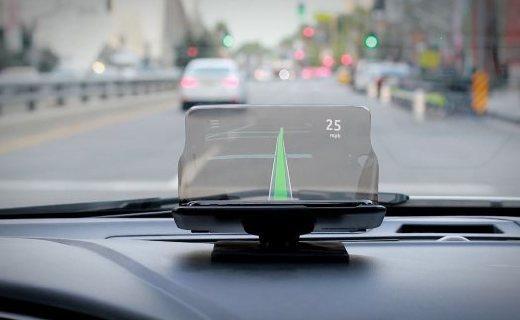把手機變成汽車平視顯示器:HUDWAY玻璃投影