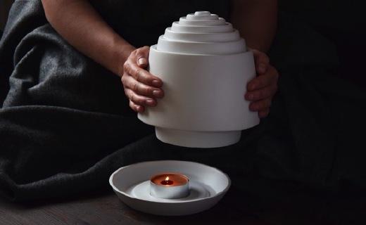 一支蜡烛即?#25159;?#26262;,陶瓷材质的模拟取暖器