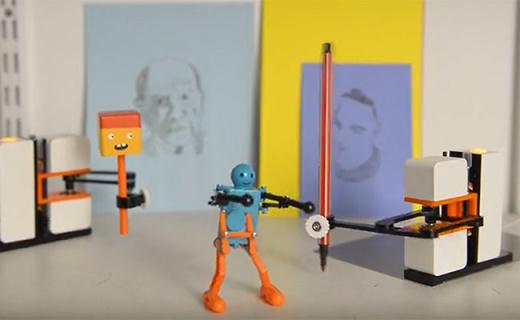 會模仿你畫畫寫字的機器人,老師罰抄再也不怕了