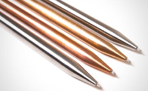 超有手感的自动铅笔,金属材质机械装置