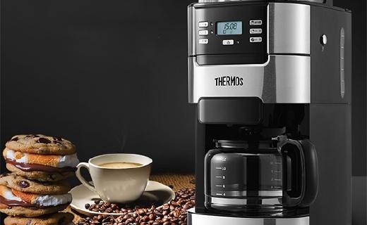 膳魔師全自動咖啡機 :可調節研磨粗度,保溫底盤保持口感新鮮