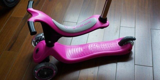 遛娃新选择,高乐宝四合一滑板车体验