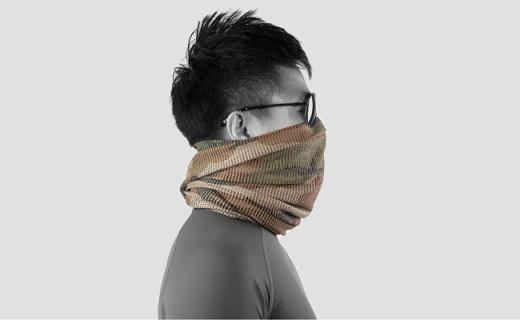 Magforce叢林偽裝圍巾:全體網式設計,順暢呼吸隱蔽性強