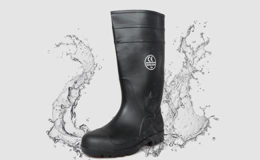 Gstsafe雨鞋:耐折防砸PVC材質,超高鞋筒防潑濺