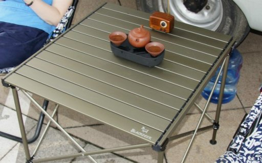 75KG承重便携折叠桌,户外露营也该上桌吃饭   视频