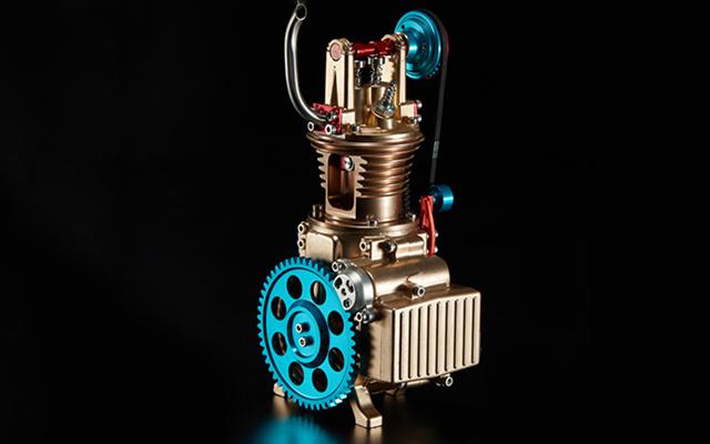 土星文化 單缸發動機組裝模型