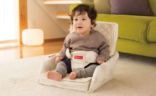 Farska可折叠坐垫床:安全带设计可与?#25105;?#26885;子结合,双层纯棉更舒适