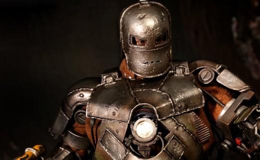野獸國鋼鐵俠Mark1手辦:鋼鐵俠的初代目,關節可動還有燈光