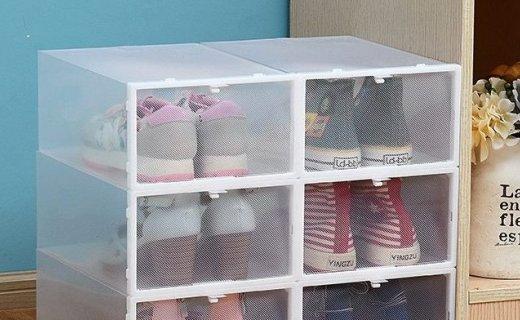 Doruik抽屉式可视塑料鞋盒:PP材质健康安全,可拼接设计