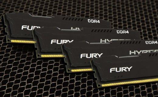 金士顿Fury系列4G内存条:支持PNP超频技术,出色提升系统性能