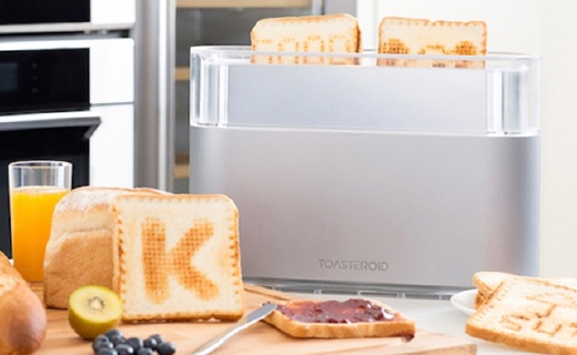 能在面包上畫畫的面包機,枯燥的早晨也能有驚喜