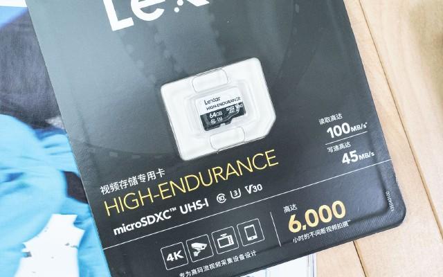 行車記錄儀的好搭檔 | LEXAR視頻專用microSDXC存