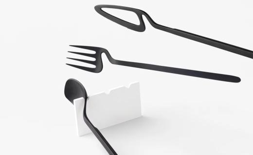 nendo骨架系列餐具:隨時隨地掛到墻上