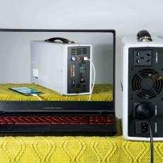 買個安心,百克龍B1000便攜式UPS電源為工作室保駕護航