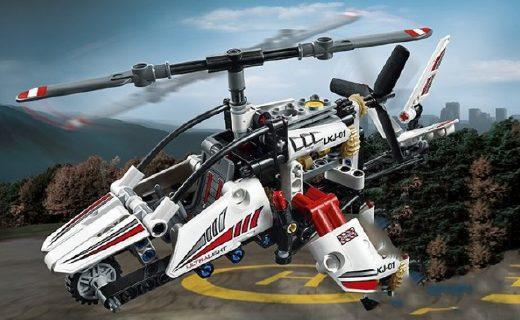 樂高直升機玩具:精致部件炫酷外觀,仿真模型滿足童趣