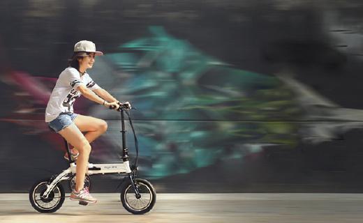 續航60km的智能自行車,智能混動快速折疊