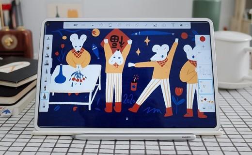 「体验」插画师为啥爱上用平板画画?华为MatePad Pro体验:比纸好用!