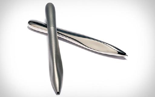 极简钛金属圆珠笔,3D打印而成握持更舒适