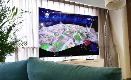 4K曲面大屏,这可能是看奥运最好的姿势