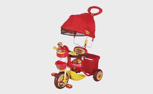 面包超人化身兒童腳踏車,超萌外形帶音樂寶寶爭著要去玩