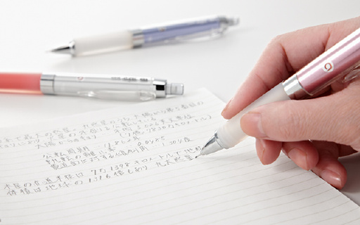 三菱防疲勞自動鉛筆,旋轉出鉛讓筆跡粗細如一