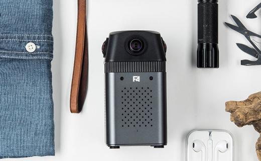 得圖F4全景相機:四鏡頭6K超清全景拍攝,機身僅670g方便攜帶