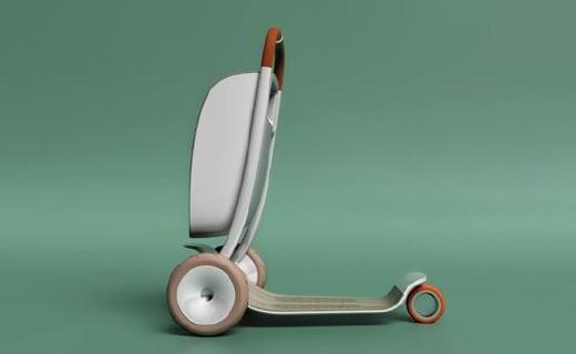 专为老年人设计的滑板车,外观时尚使用安全