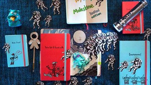 Moleskine笔记本:玩具总动员纪念限量,无酸纸健康环保