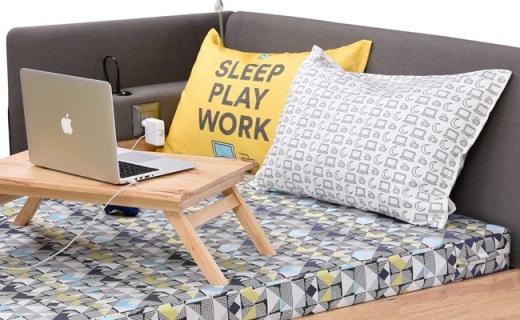 懶人福利,睡覺娛樂和工作都能搞定的床