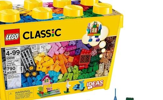 樂高10698創意大號積木盒:經典創意多重玩法,自由拼搭啟蒙創意