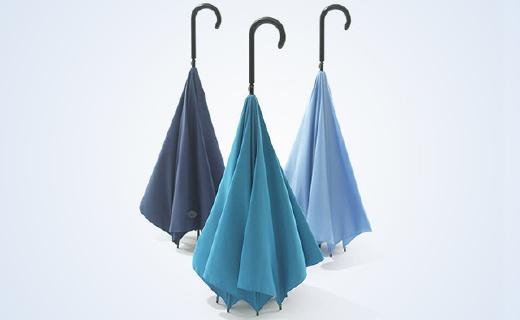 反向開合可以站立的雨傘,雨天再也不濕身