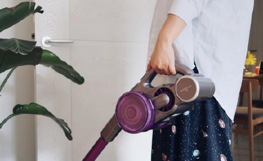 工作太忙清潔費勁?妹子單手提著吸,除塵除螨這款吸塵器全能搞定!