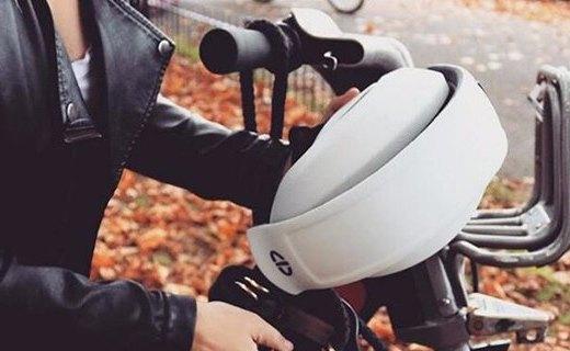 缓冲材料制成的头盔,不仅安全还可以折叠收纳!