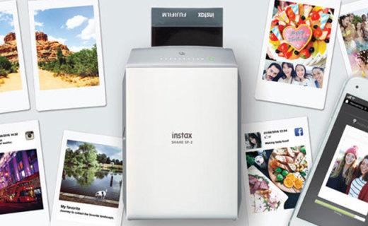 富士SP-2便攜照片打印機:10秒每張快速打印,可添加多種濾鏡