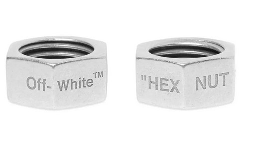 遠看兩塊六,近看一千八:Off-White 推出超奇葩螺母戒指