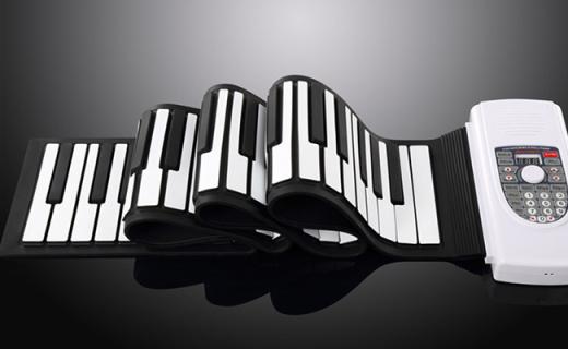Iword S2090-88手卷鋼琴:88鍵全尺寸設計,可移動電源供電