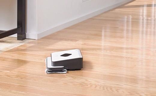 iRobot擦地机:独特干湿两用模式,智能清扫不再弯腰