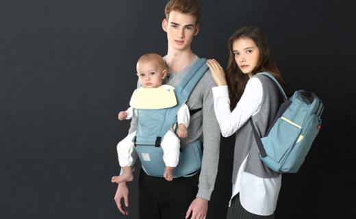 費雪嬰兒背帶:無毒堅固材質使用安全,傾斜坐墊貼合舒適
