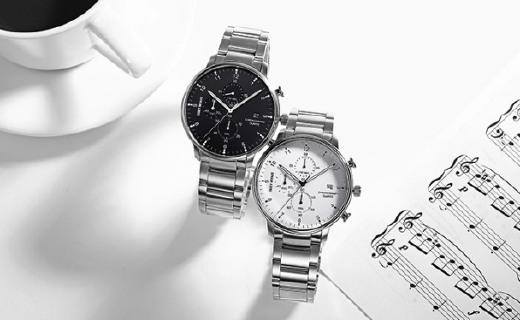 三宅一生C系列石英表 :三表盤極簡設計,精鋼材質質感出色