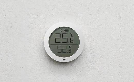 米家蓝牙温湿度计,能替你?#29942;?#31354;调加湿器!
